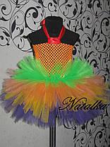 """Карнавальна сукня-спідниця з фатину """"Веселка"""", фото 2"""