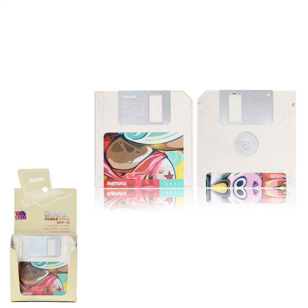Портативний зарядний пристрій (Power Bank) Remax Floppy RPP-17 5000mAh White