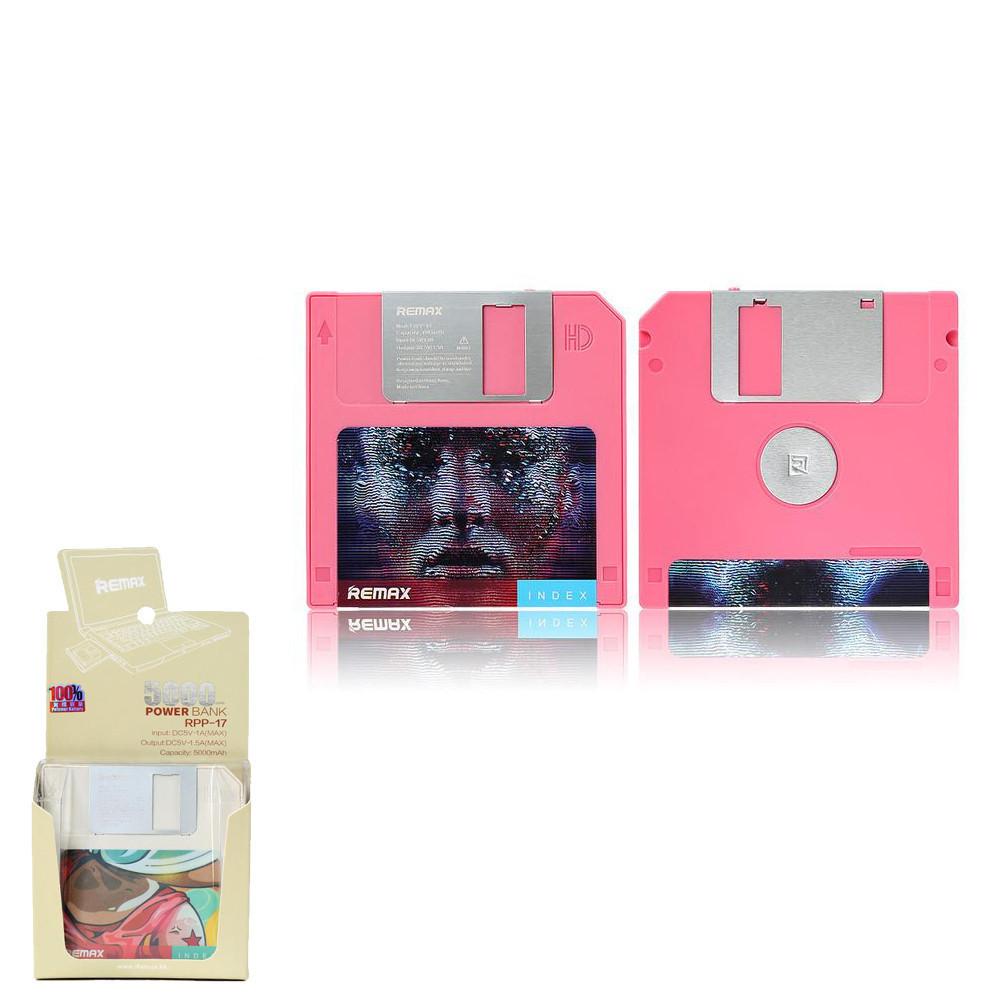 Портативное зарядное устройство (Power Bank) Remax Floppy RPP-17 5000mAh Pink