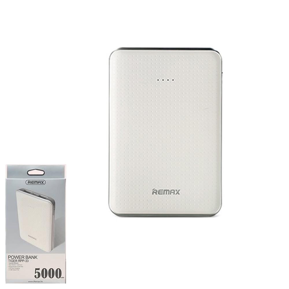 Портативное зарядное устройство (Power Bank) Remax Tiger RPP-33 5000mAh White