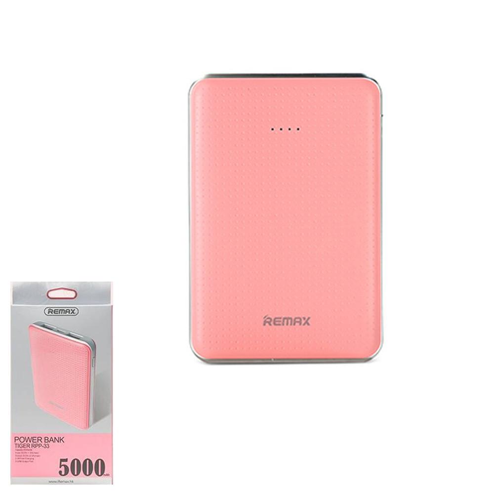 Портативное зарядное устройство (Power Bank) Remax Tiger RPP-33 5000mAh Pink