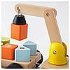 Подъёмный кран IKEA MULA с кубиками разноцветный бук 202.948.79, фото 2
