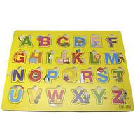 Обучающая деревянная доска Сегена, рамки вкладыши, англ. алфавит 4