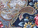 Сон бабочки 1463-12, павлопосадский платок шерстяной с шелковой бахромой, фото 3
