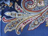 Сон бабочки 1463-12, павлопосадский платок шерстяной с шелковой бахромой, фото 6