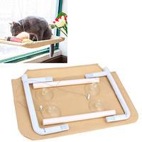 Гамак лежак на окно оконный для кота котов лежанка до 15кг (z04876)