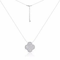 """Серебряное колье с камнями в стиле """"Van Cleef & Arpels"""""""