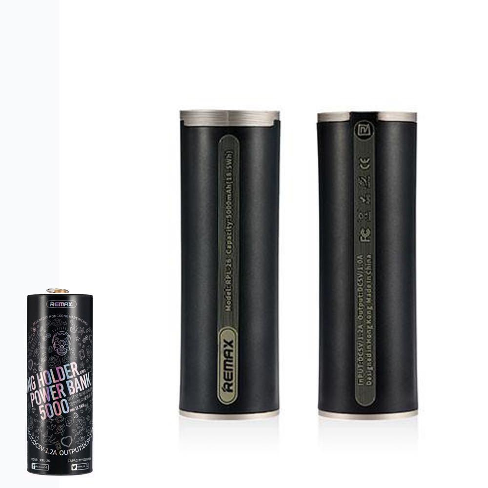 Портативное зарядное устройство (Power Bank) Remax Ring Holder RPL-26 5000mAh Black