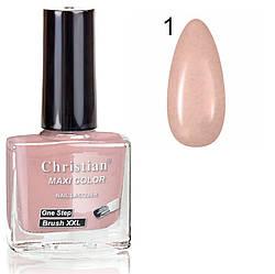 Лак для нігтів з ефектом гель-лаку Christian № 01 11 ml NE-11GEL