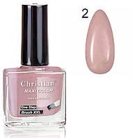 Лак для ногтей с эффектом гель-лака Christian № 02  11 ml NE-11GEL