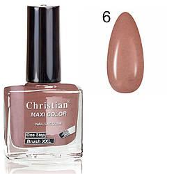 Лак для нігтів з ефектом гель-лаку Christian № 06 11 ml NE-11GEL