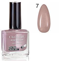 Лак для нігтів з ефектом гель-лаку Christian № 07 11 ml NE-11GEL