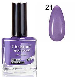 Лак для нігтів з ефектом гель-лаку Christian № 21 11 ml NE-11GEL