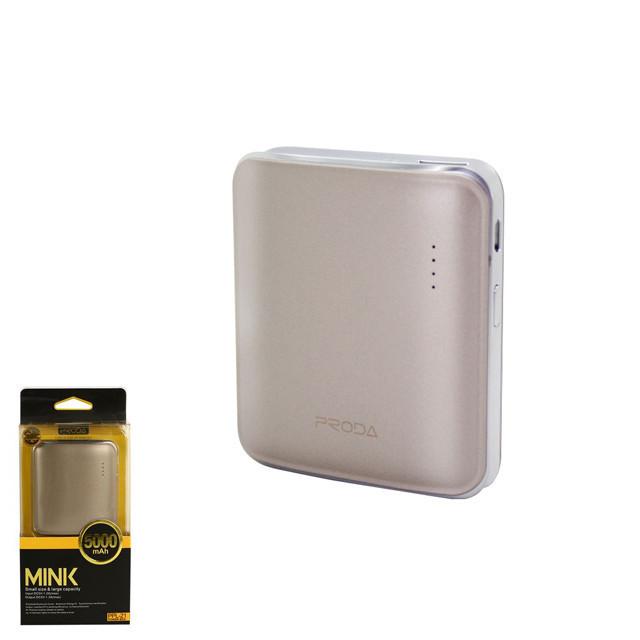 Портативное зарядное устройство (Power Bank) Remax Mink PPL-21 5000mAh Gold