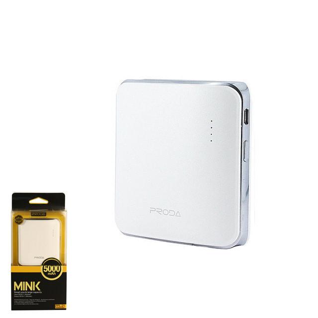 Портативное зарядное устройство (Power Bank) Remax Mink PPL-21 5000mAh White
