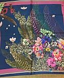 10123-14, павлопосадский шейный платок (крепдешин) шелковый с подрубкой, фото 3