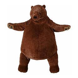 Мягкая игрушка IKEA DJUNGELSKOG бурый медведь 004.028.13