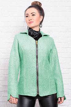 Кашемірова коротка куртка Нора, м'ятного кольору