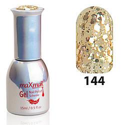 Гель-Лак M-15 № 144 Коричневый с крупным мерцанием