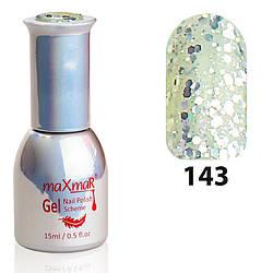 Гель-Лак M-15 № 143 Серебро с крупным мерцанием