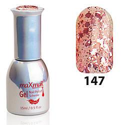 Гель-Лак M-15 № 147 Розовый с крупными блёстками