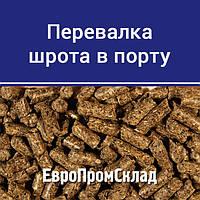Перевалка шрота в Днепро-Бугском морском порту (г. Николаев)