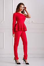 Женский трикотажный костюм с баской №534, фото 2