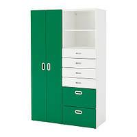 Шкаф / гардероб IKEA STUVA / FRITIDS 120x50x192 см белый зеленый 292.765.26