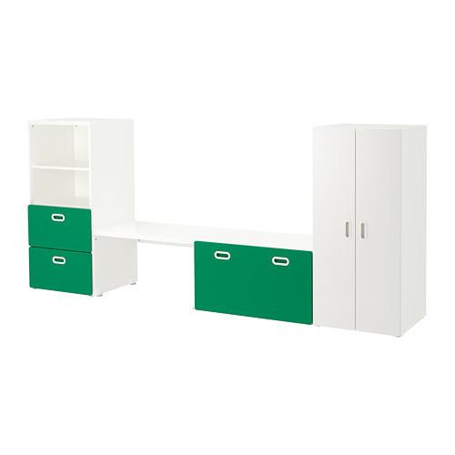 Комплект стеллажа, стола, комода и шкафа IKEA STUVA / FRITIDS 300x50x128 см зеленый 492.672.53