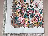Песня Леля 1577-2, павлопосадский платок шерстяной  с шелковой бахромой, фото 3