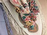 Песня Леля 1577-2, павлопосадский платок шерстяной  с шелковой бахромой, фото 8