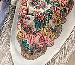 Песня Леля 1577-2, павлопосадский платок шерстяной  с шелковой бахромой, фото 7