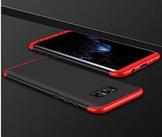 Чехол GKK 360 для Samsung S8 Plus / G955 бампер накладка Black-Red
