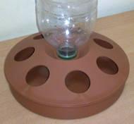 Вакуумная автопоилка под ПЭТ бутыль 0,5-2 л. (коричневая) (ВП-1)