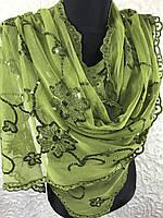 Легкий шарф с паетками