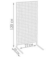 Торговая сетка стойка на ножках 120/77см (от производителя оптом и в розницу), фото 1