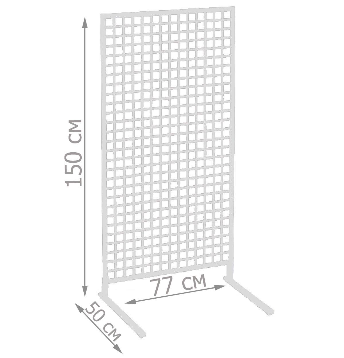 Торгова сітка стійка на ніжках 150/77см профиль15х15 мм (від виробника оптом та в роздріб)
