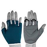 Перчатки для фитнеса PowerPlay 3418 (Синие) женские размер S, фото 3