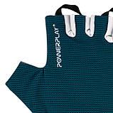 Перчатки для фитнеса PowerPlay 3418 (Синие) женские размер S, фото 4