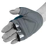 Перчатки для фитнеса PowerPlay 3418 (Синие) женские размер S, фото 6