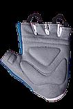 Перчатки для фитнеса PowerPlay 3418 (Синие) женские размер S, фото 7