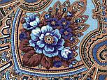 Аленький цветочек 797-1, павлопосадский вовняну хустку з оверлком, фото 3