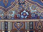 Аленький цветочек 797-1, павлопосадский вовняну хустку з оверлком, фото 4