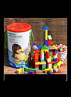 Детские деревянные кубики 100 деталей