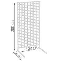 Торговая сетка стойка на ножках 200/100см (от производителя оптом и в розницу)