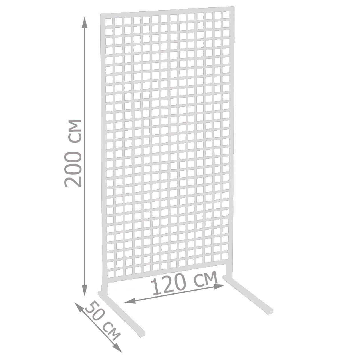 Торговая сетка стойка на ножках 200/120см (от производителя оптом и в розницу)