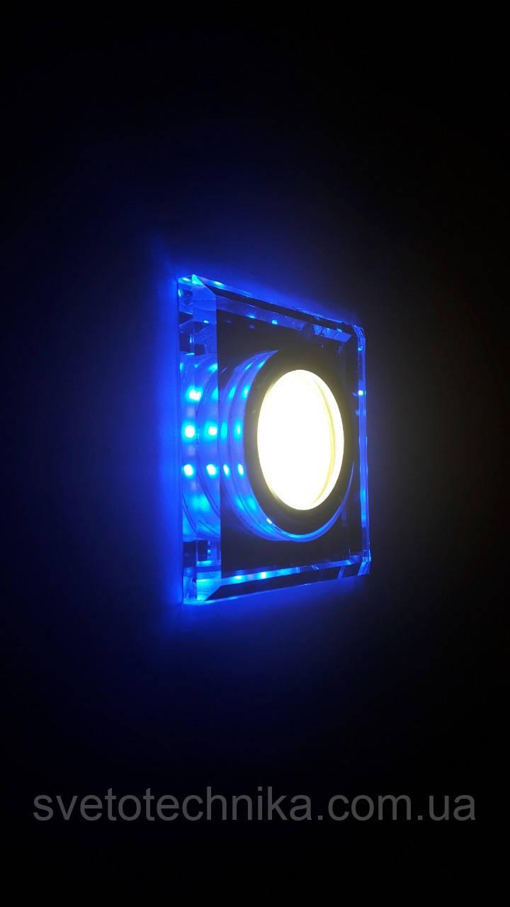 Встраиваемый светильник  6017 BL MR16 с LED подсветкой со сменой цветов