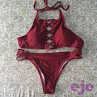 Женский стильный раздельный купальник РАЗНЫЕ ЦВЕТА Фабричный Китай Код. 111.029