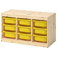 Комод для игрушек IKEA TROFAST 94x44x52 см сосна желтый 392.408.67