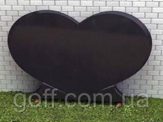Памятник сердце, памятник двойной, гранитный памятник, Стела №14